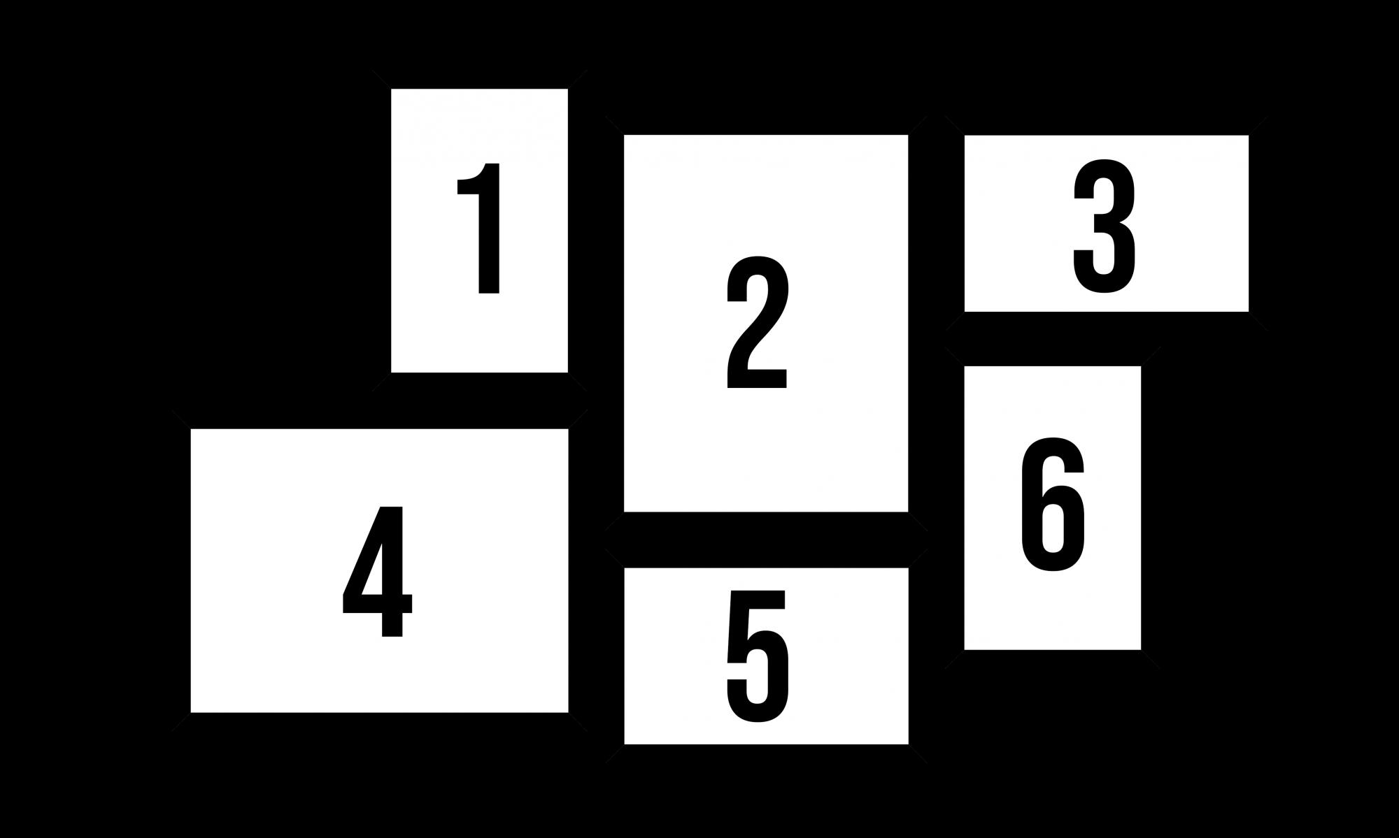 Conjunto Kit 6 Quadros Retangular Personalizado