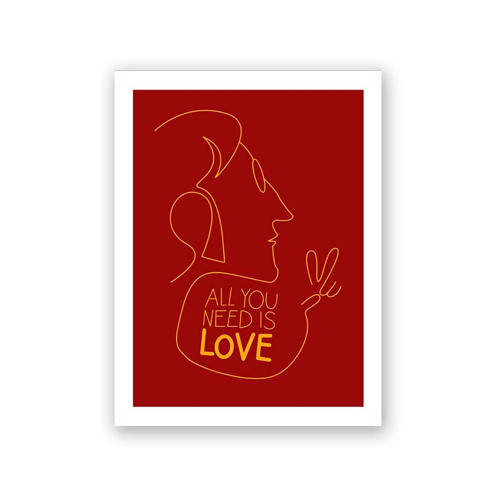 Quadro Decorativo 27x36 All You Need Is Love