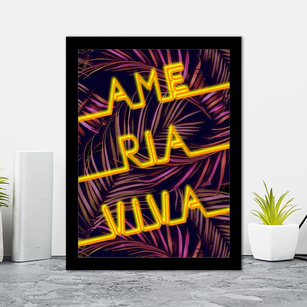 Quadro Decorativo 27x36 Ame Ria Viva