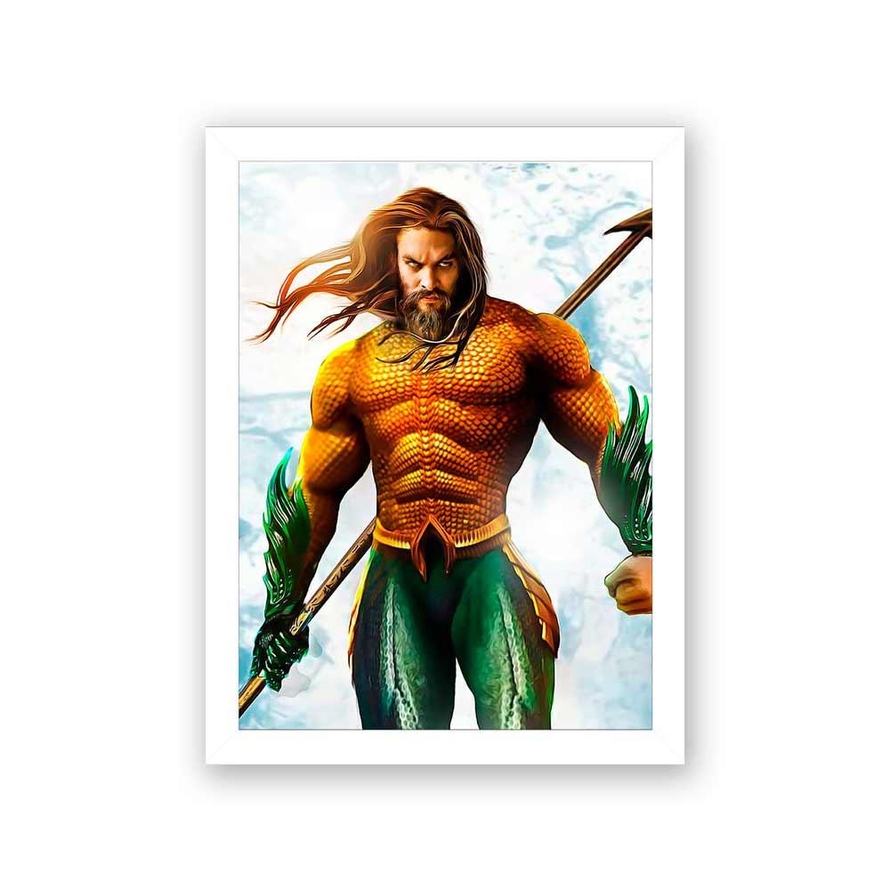 Quadro Decorativo 27X36 Aquaman