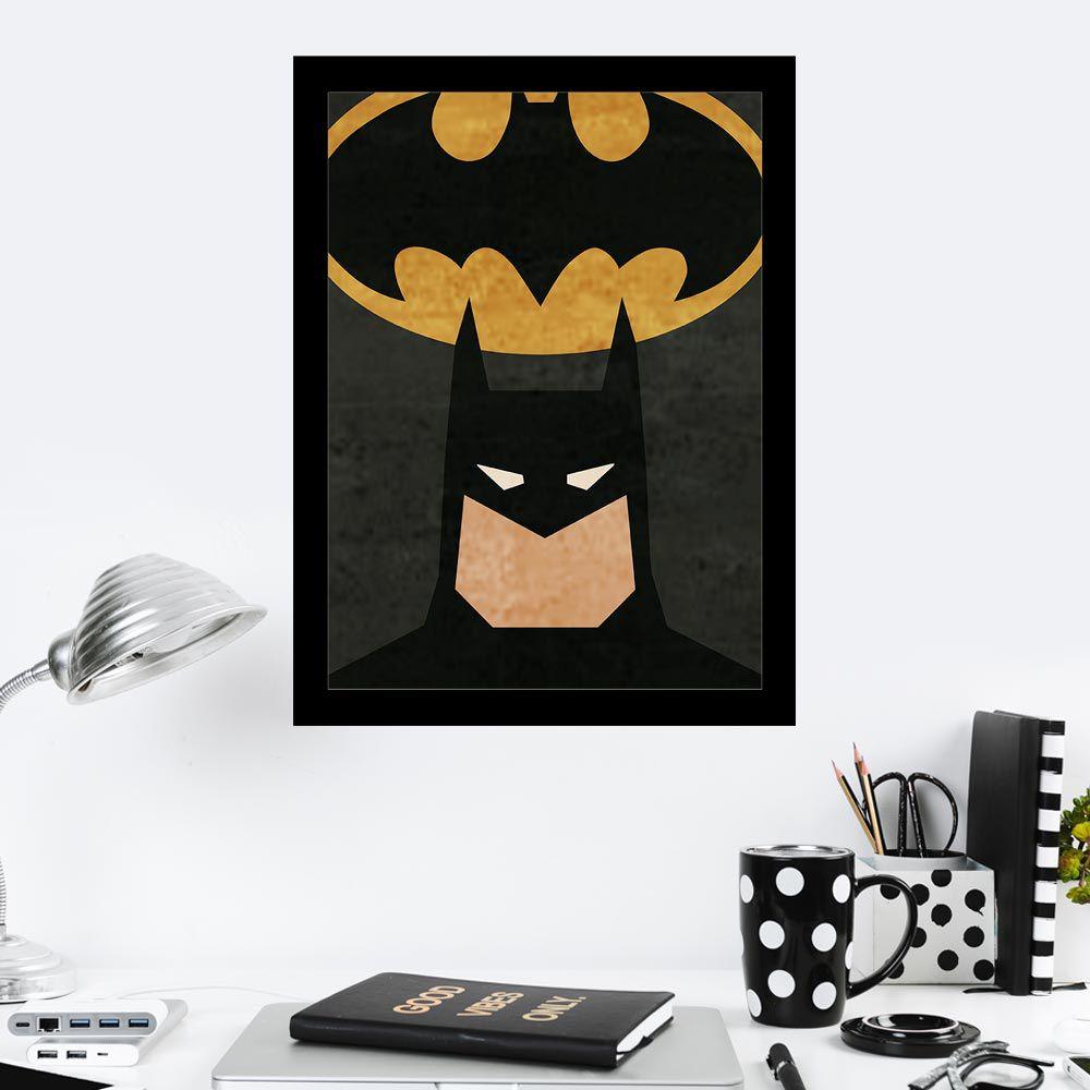 Quadro Decorativo 27X36 Batman Desenho