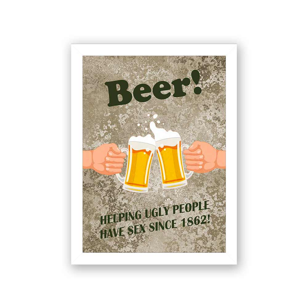 Quadro Decorativo 27x36 Beer