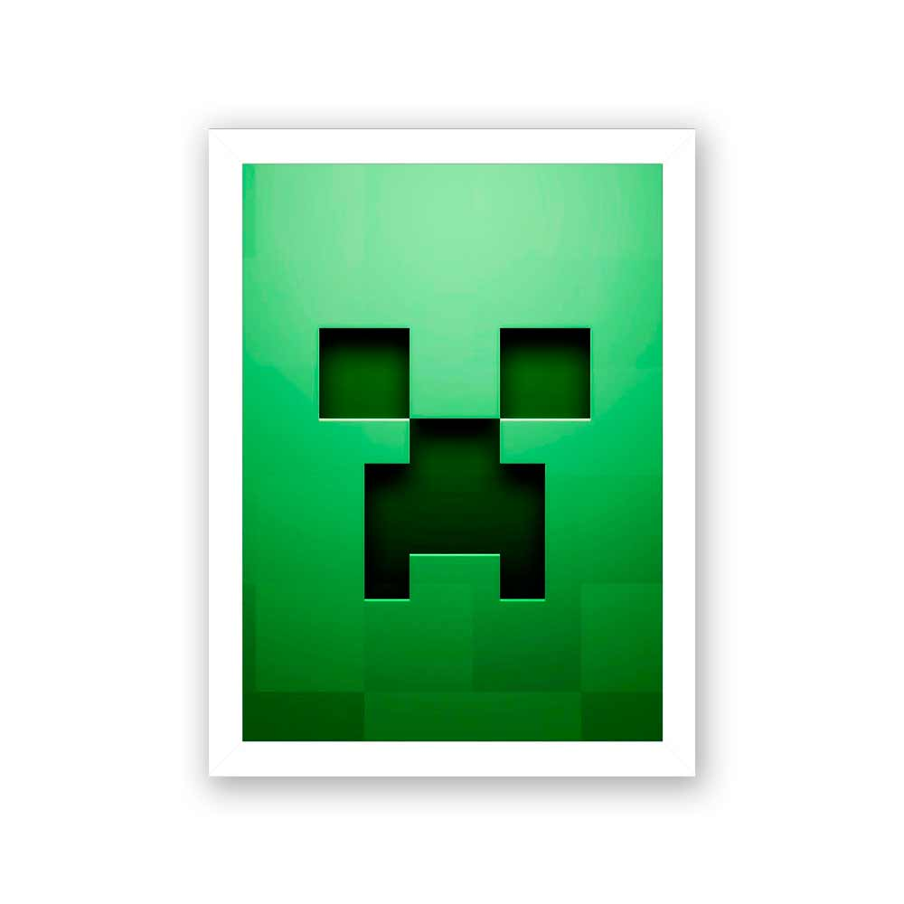 Quadro Decorativo 27x36 Bloco MineCraft