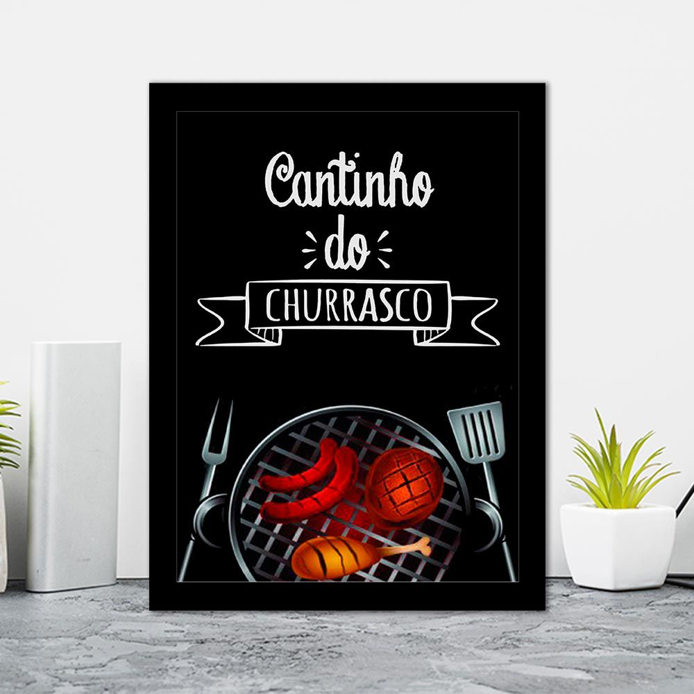 Quadro Decorativo 27x36 Cantinho do Churrasco