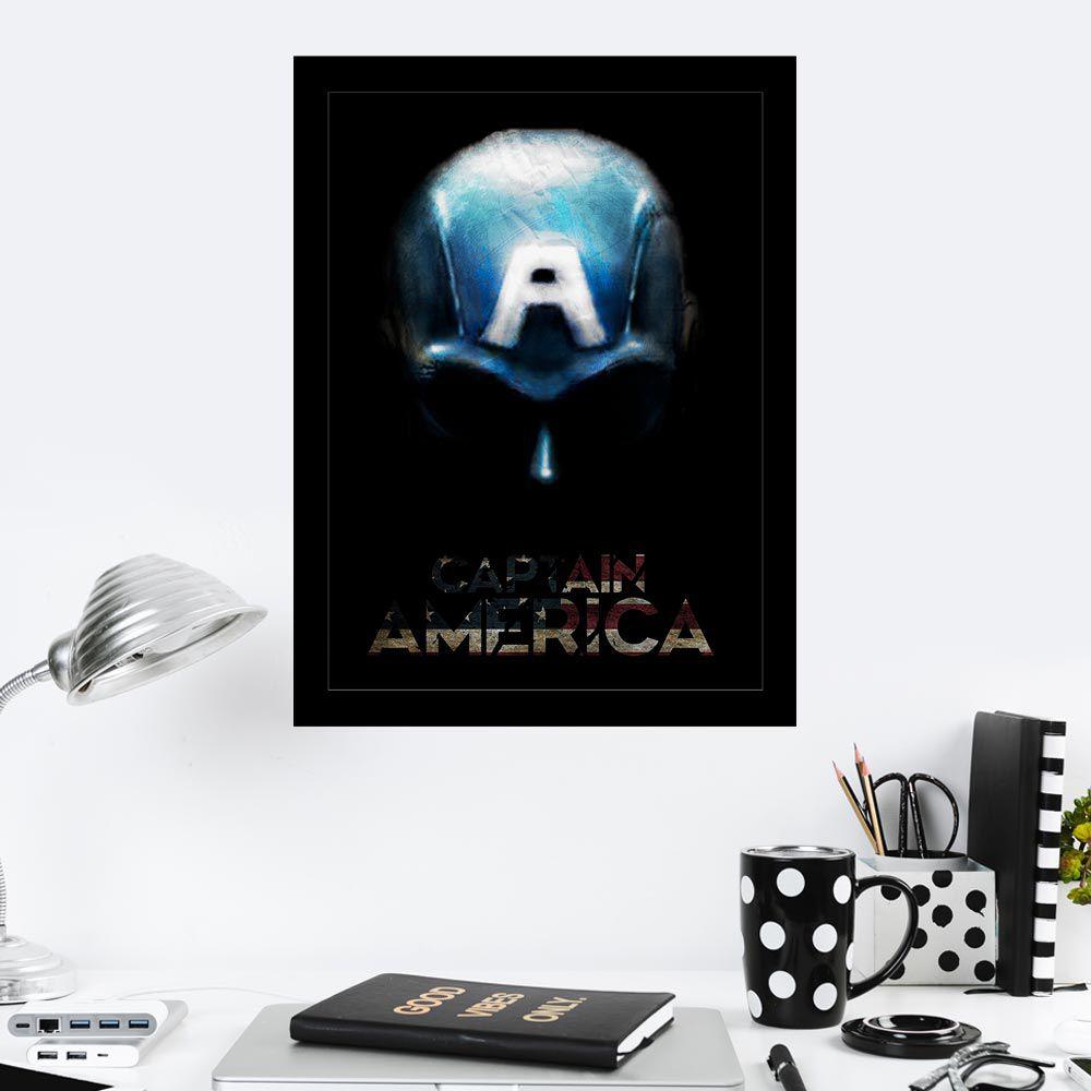 Quadro Decorativo 27X36 Capitão América