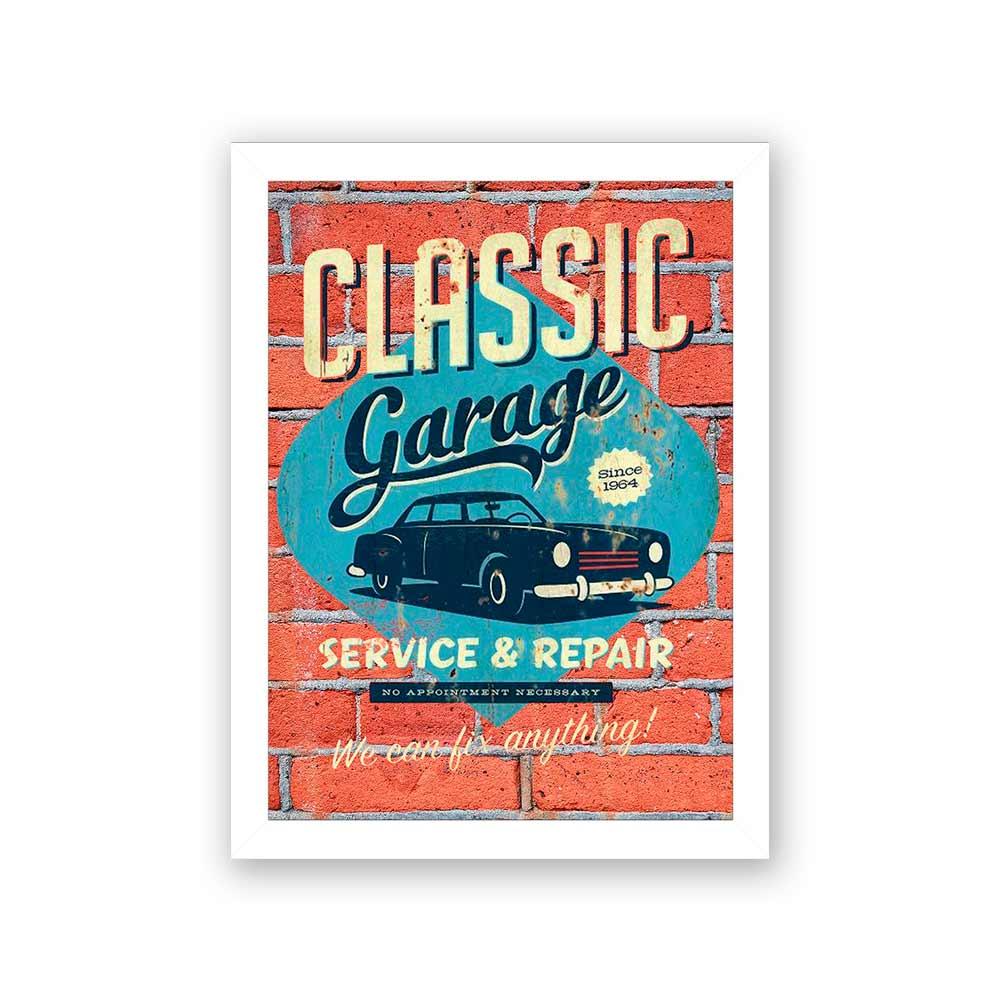 Quadro Decorativo 27x36 Classic Garage