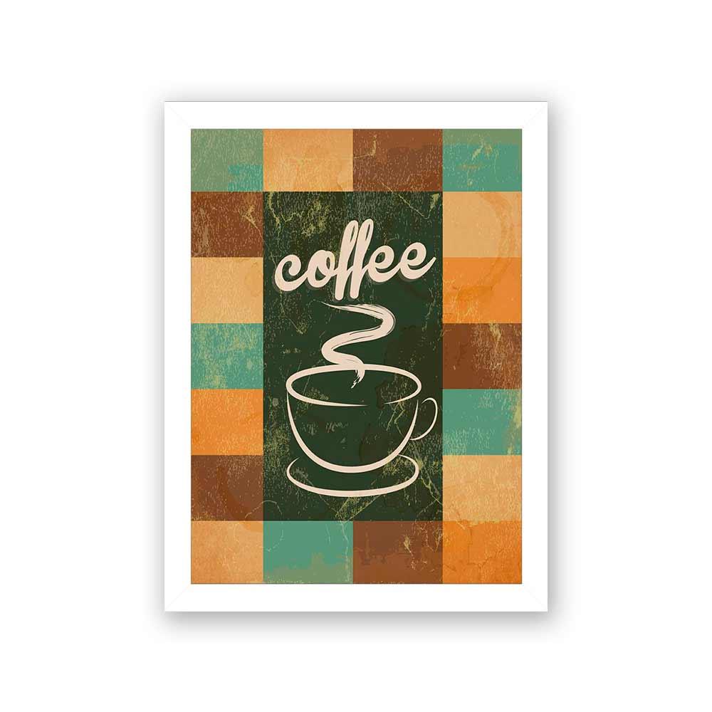 Quadro Decorativo 27x36 Coffee Vintage