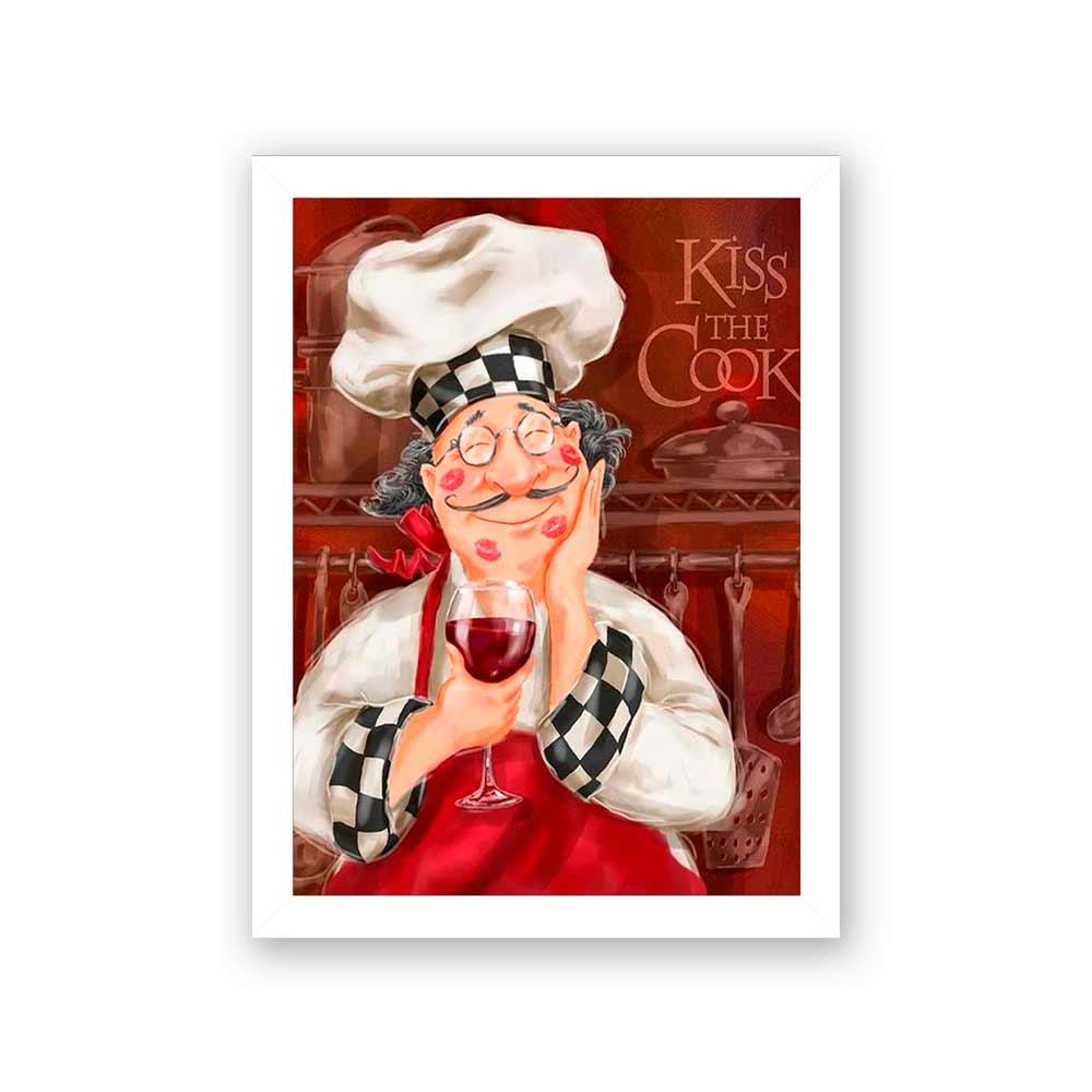 Quadro Decorativo 27x36 Cozinheiro Apaixonado