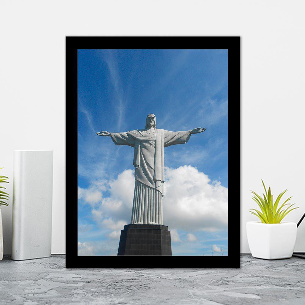 Quadro Decorativo 27x36 Cristo Redentor Rio de Janeiro