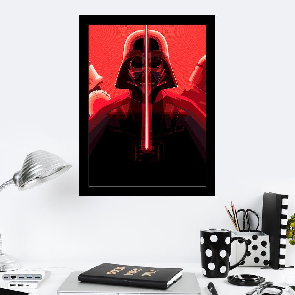 Quadro Decorativo 27X36 Darth Vader Red Lightsaber