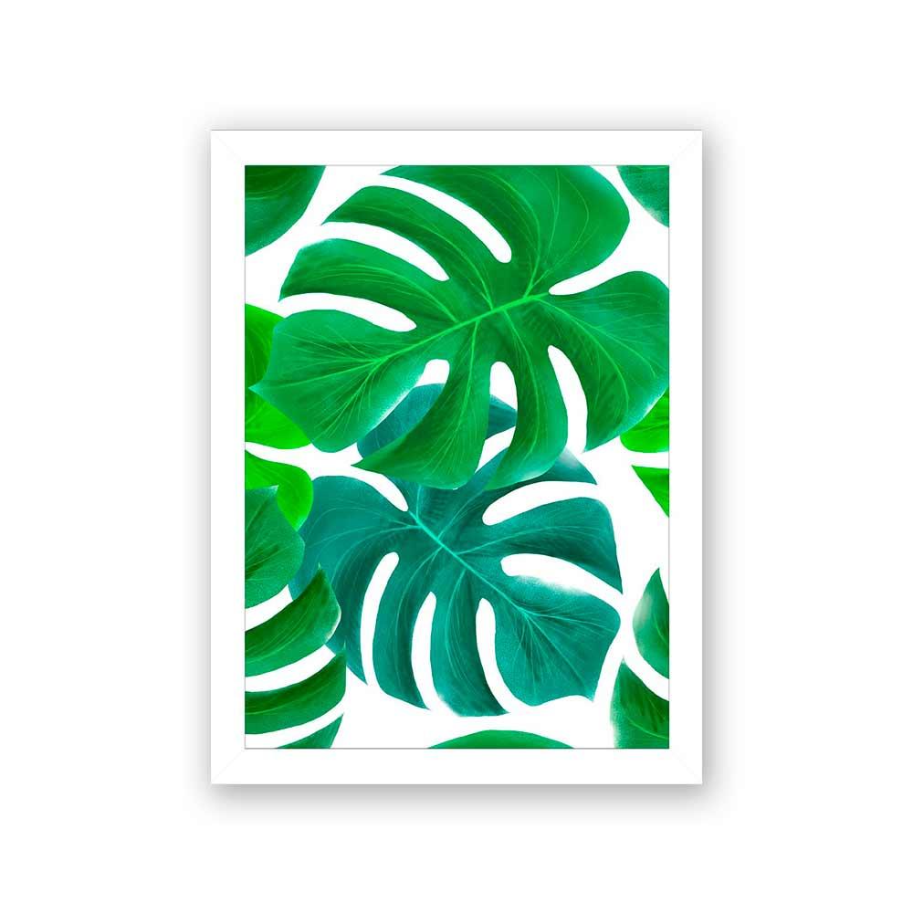 Quadro Decorativo 27x36 Desenho Costela de Adão Verde