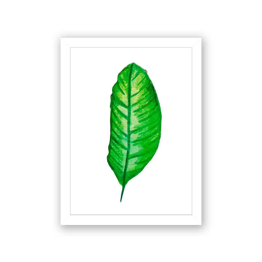 Quadro Decorativo 27x36 Desenho de Folha