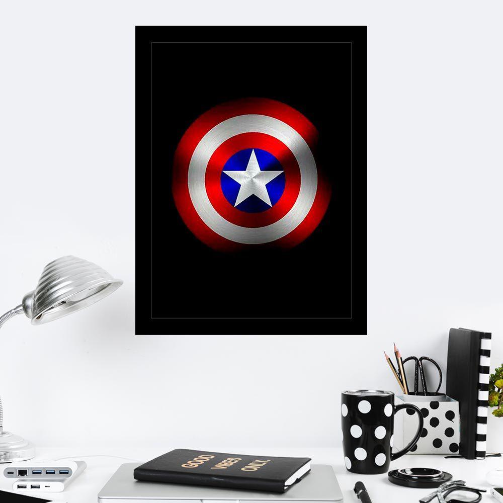 Quadro Decorativo 27X36 Escudo Capitão América