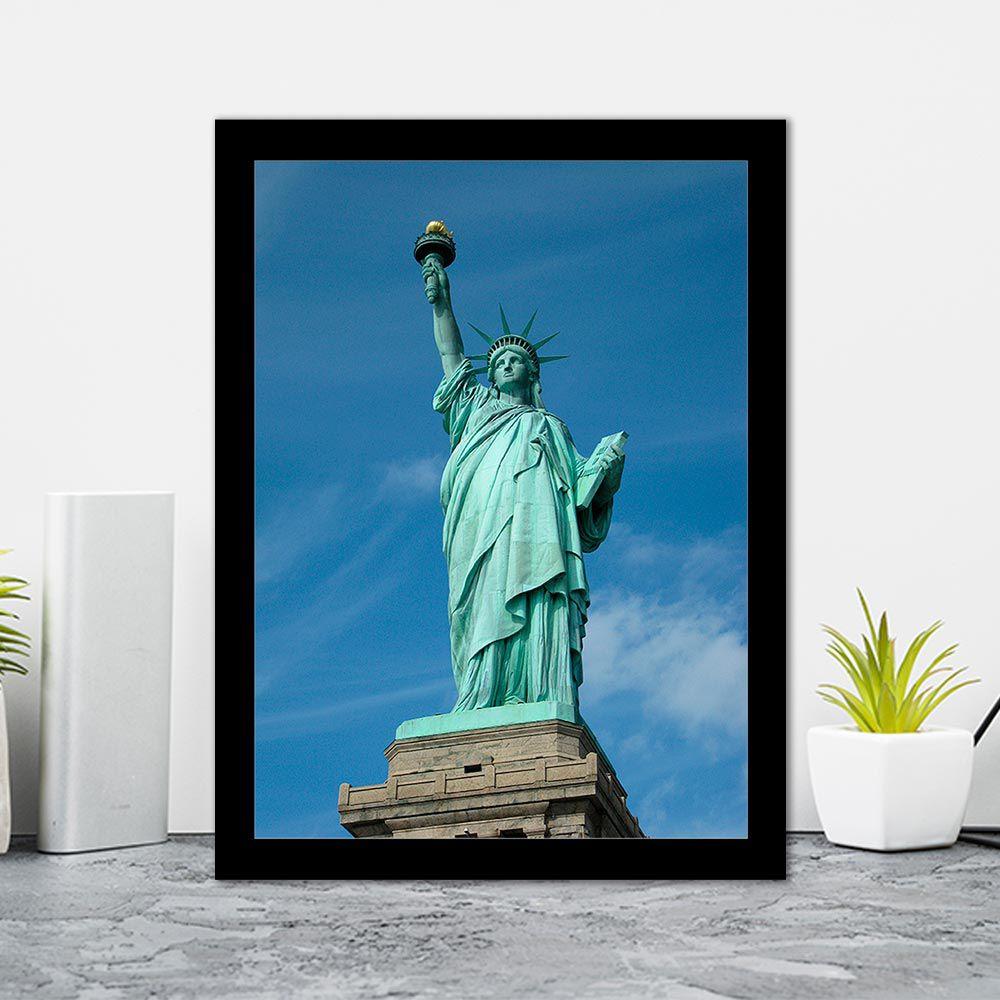 Quadro Decorativo 27x36  Estátua da Liberdade NY