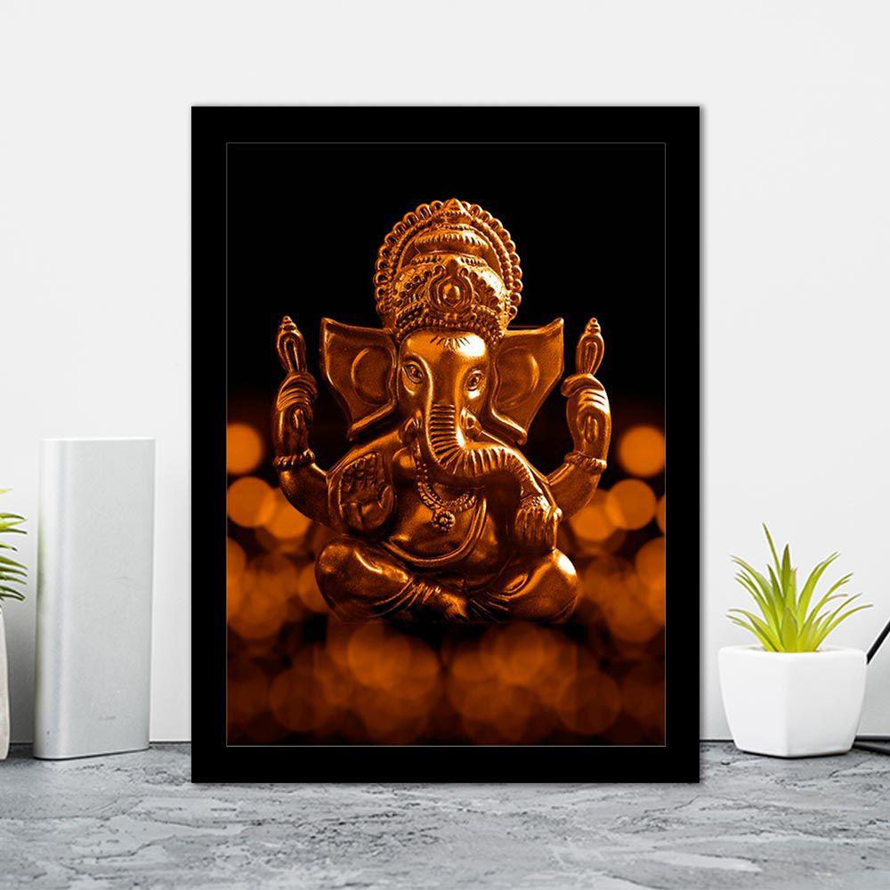 Quadro Decorativo 27x36 Estátua Ganesha