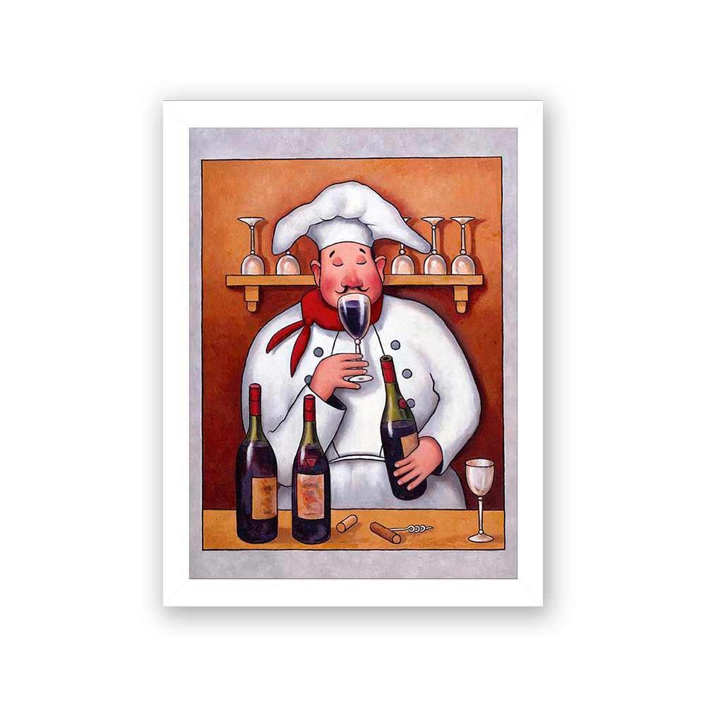 Quadro Decorativo 27x36 Experimentando Vinho