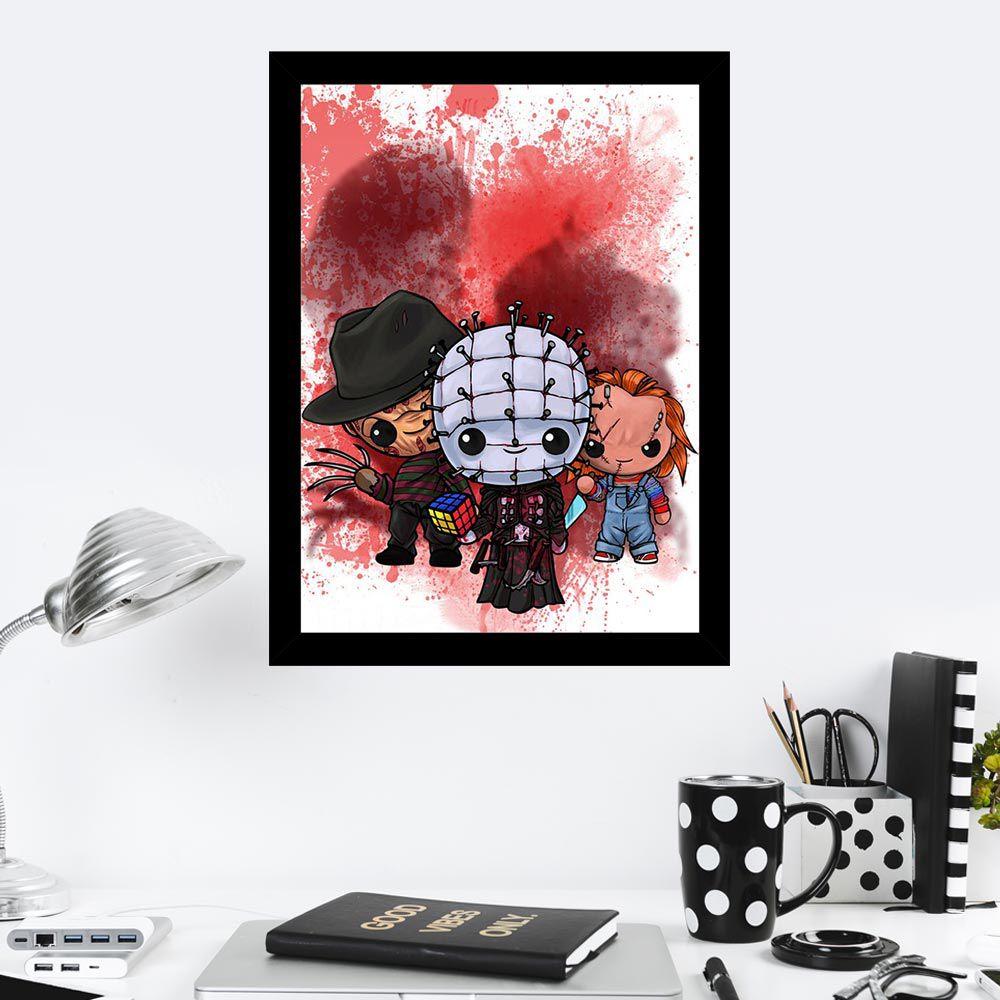 Quadro Decorativo 27X36 Filmes de Terror Art