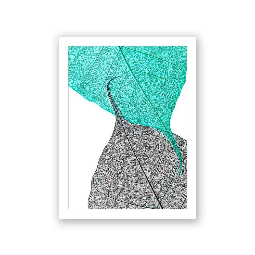 Quadro Decorativo 27x36 Folha de Outono Verde