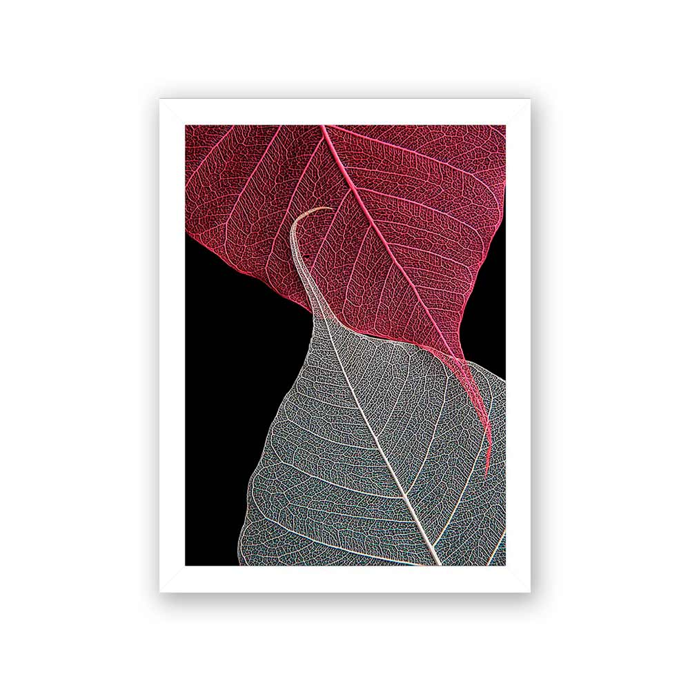 Quadro Decorativo 27x36 Folha de Outono Vermelho