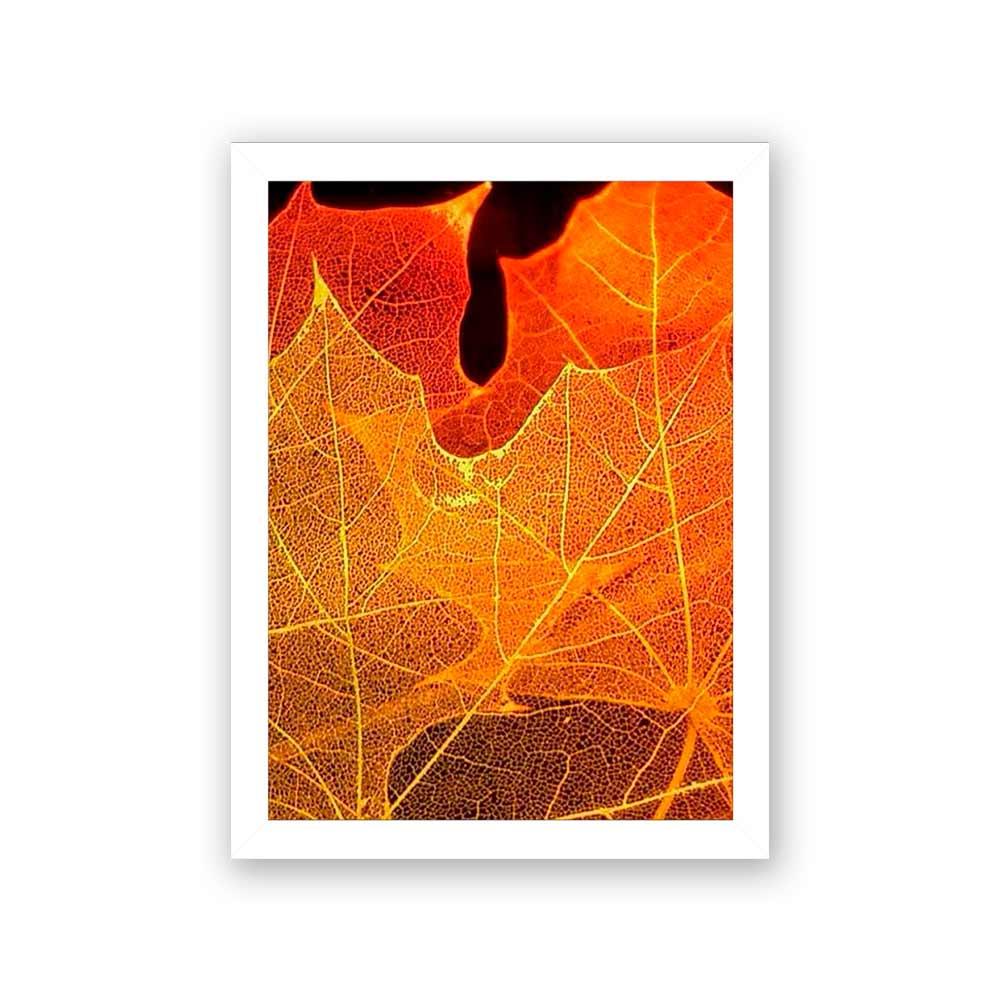 Quadro Decorativo 27x36 Folhas de Outono