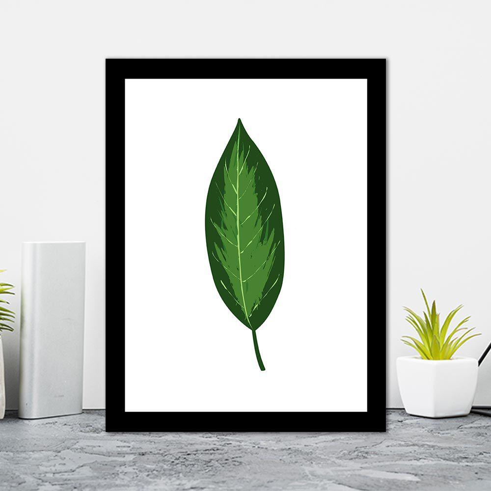 Quadro Decorativo 27x36 Folhas Tropicais - 1