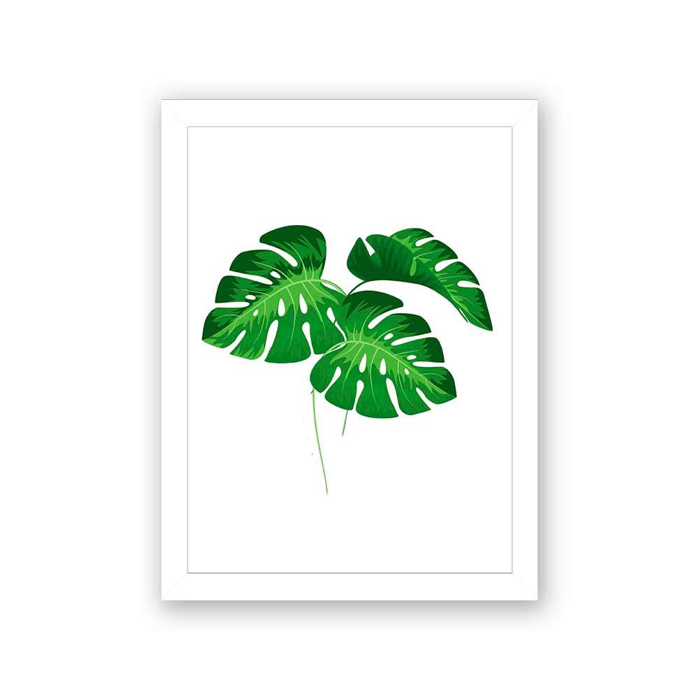 Quadro Decorativo 27x36 Folhas Tropicais - 3