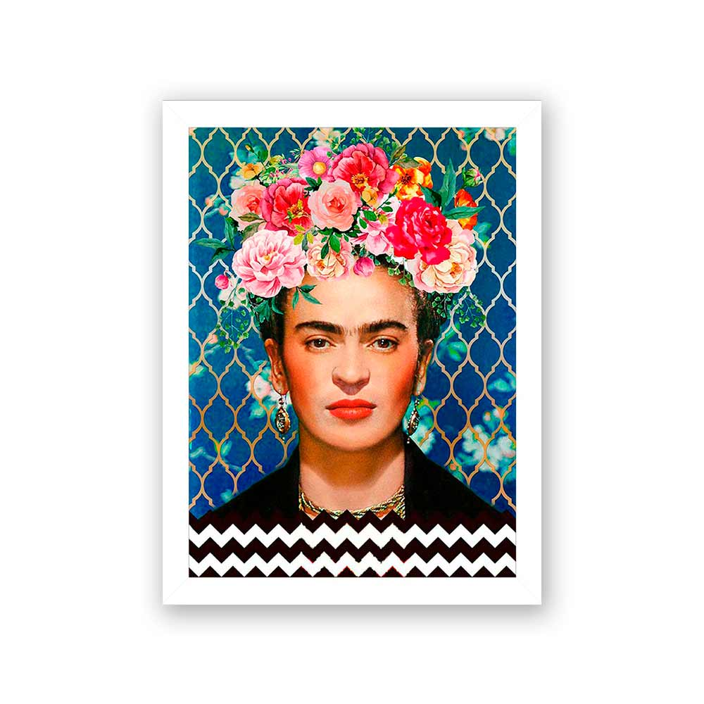 Quadro Decorativo 27x36 Frida Floral