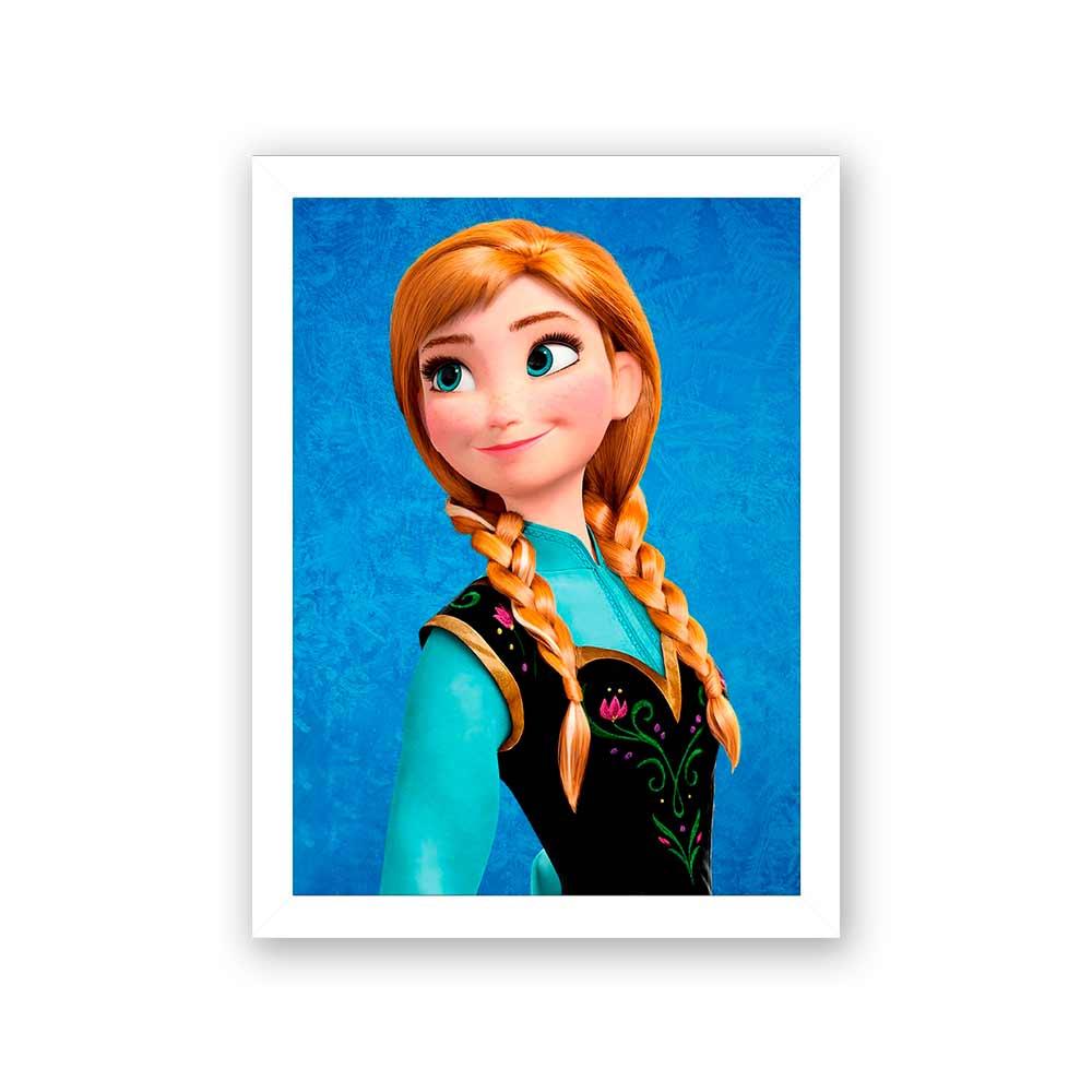 Quadro Decorativo 27X36 Frozen Anna