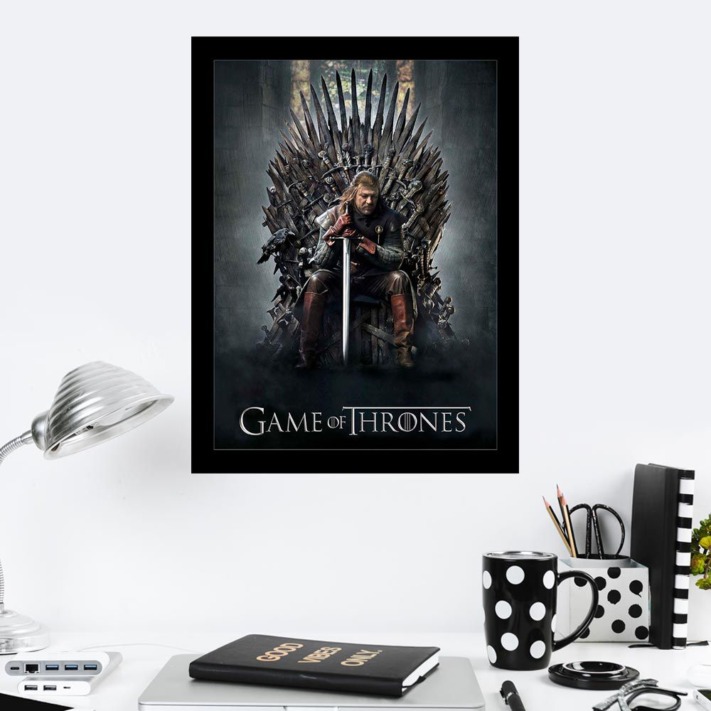 Quadro Decorativo 27x36 Game Of Thrones
