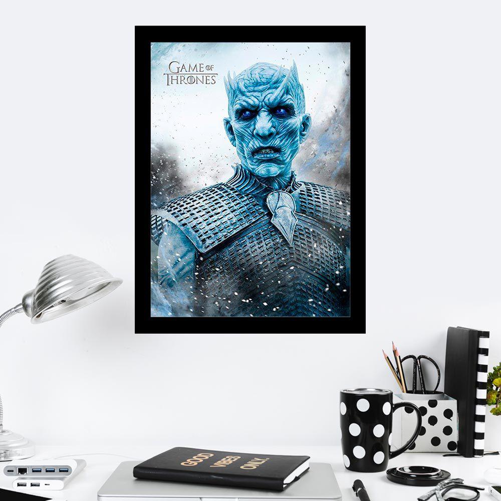 Quadro Decorativo 27x36 Game of Thrones Night King