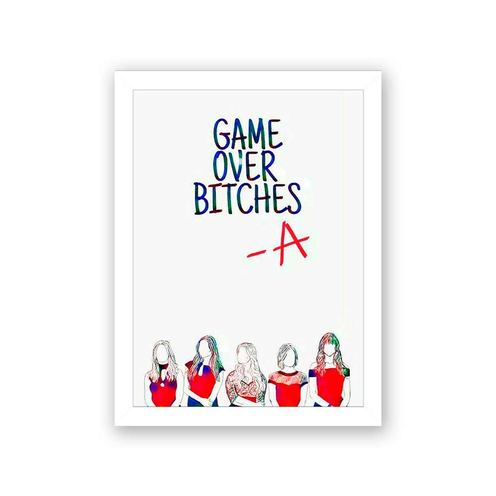 Quadro Decorativo 27x36 Game Over Bitches