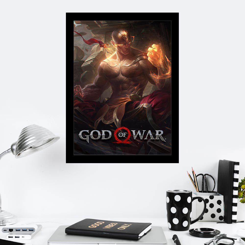 Quadro Decorativo 27x36 God Of War