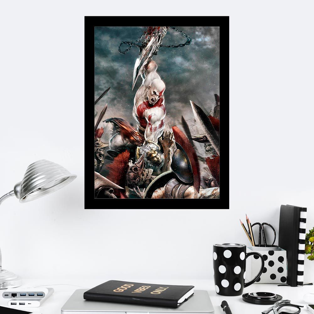 Quadro Decorativo 27x36 God Of War III