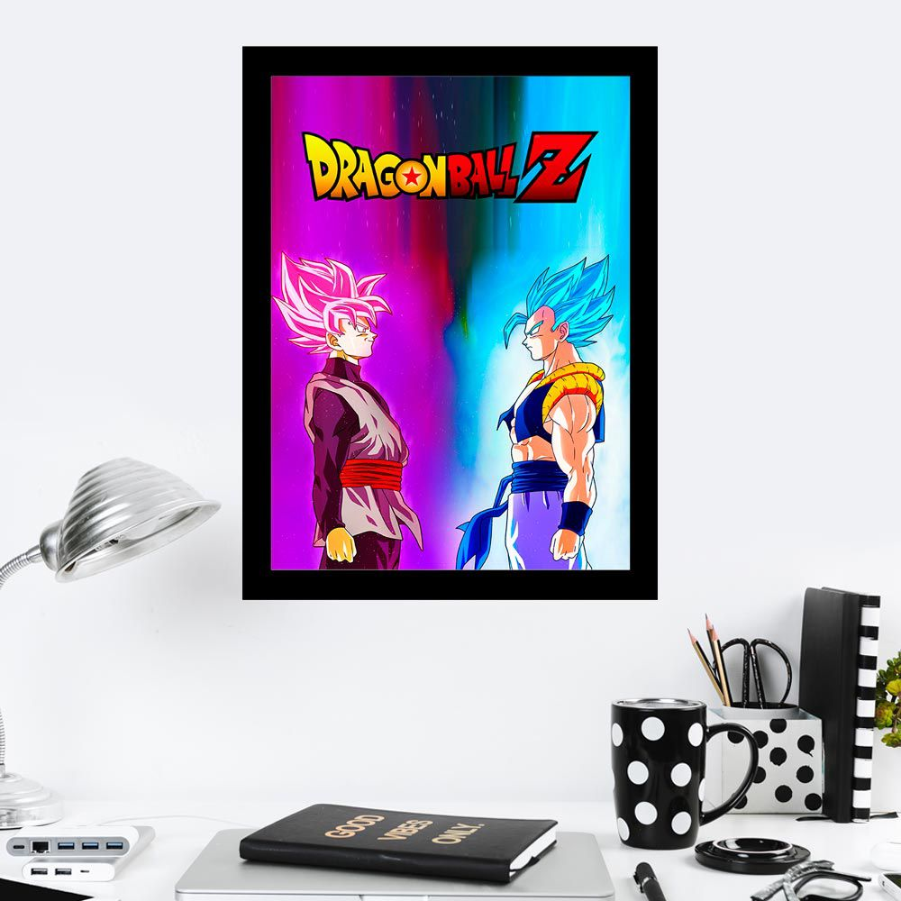 Quadro Decorativo 27x36 Gogeta vs Goku Black