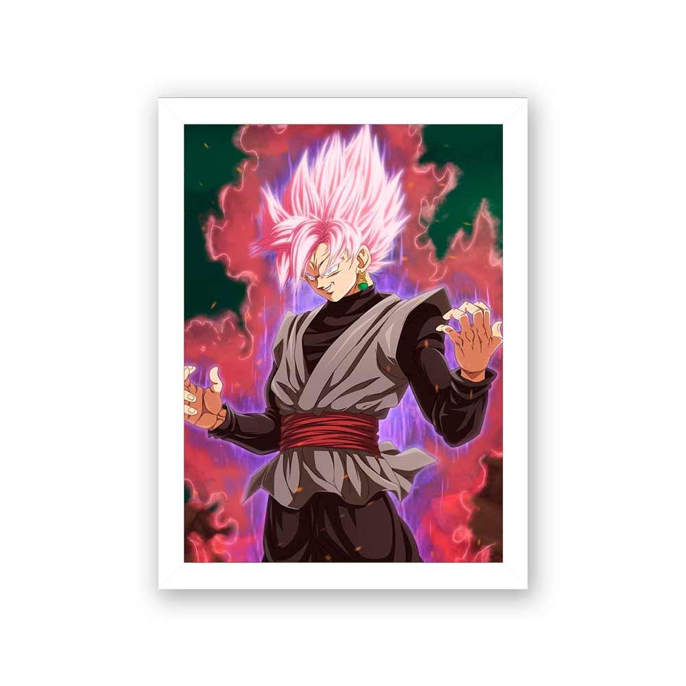 Quadro Decorativo 27x36 Goku com Poder