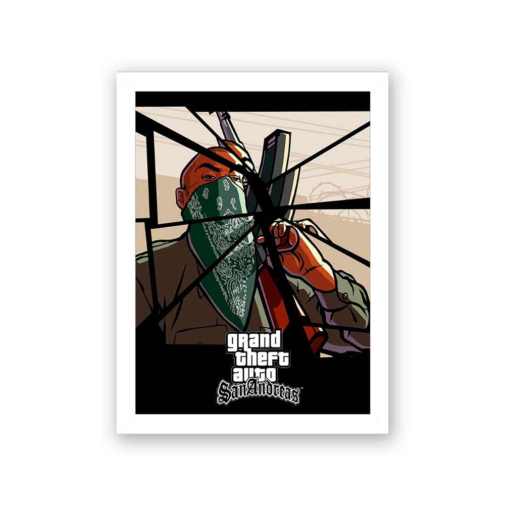 Quadro Decorativo 27x36 Grand Theft Auto