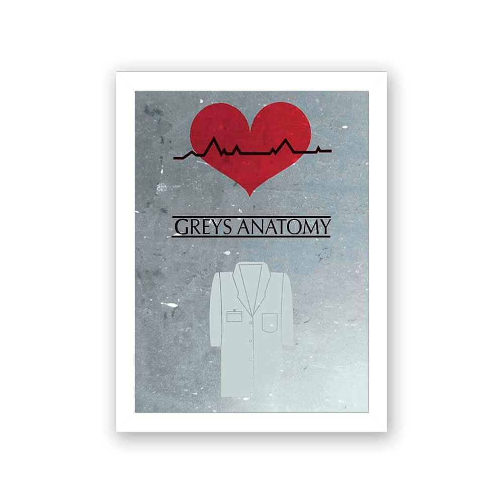 Quadro Decorativo 27x36 Grey's Anatomy Desenho