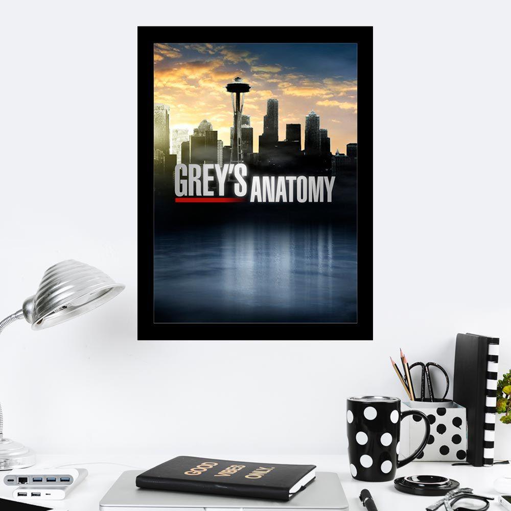 Quadro Decorativo 27x36 Grey's Anatomy Fundo Cidade