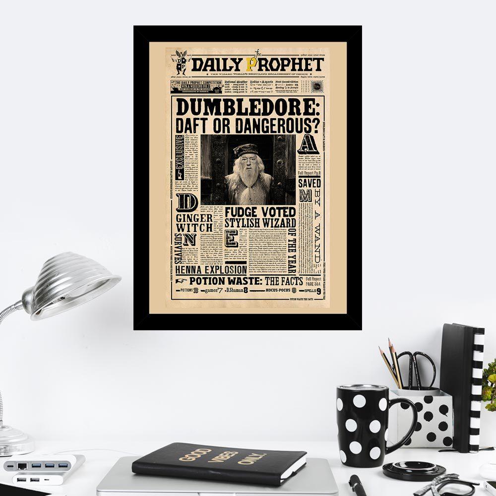 Quadro Decorativo 27X36 Harry Potter Jornal