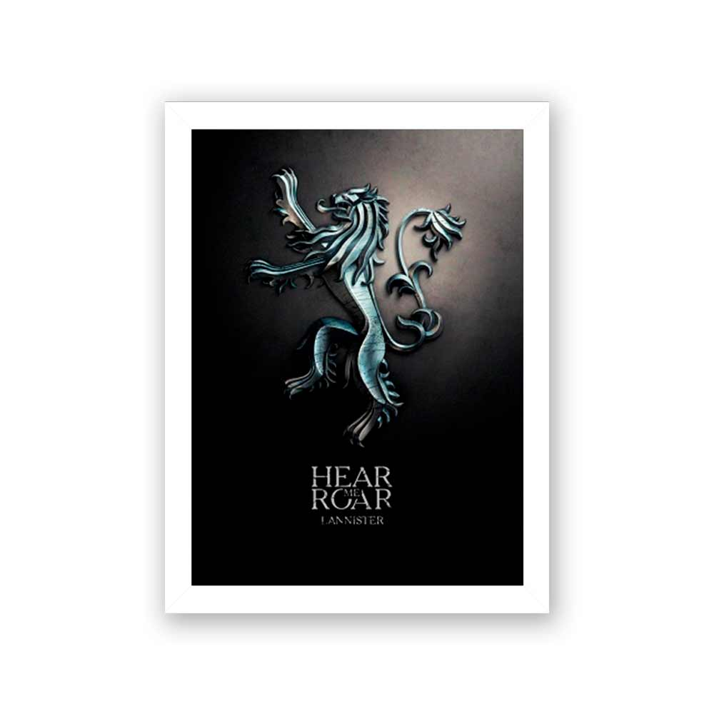 Quadro Decorativo 27x36 Hear Me Roar