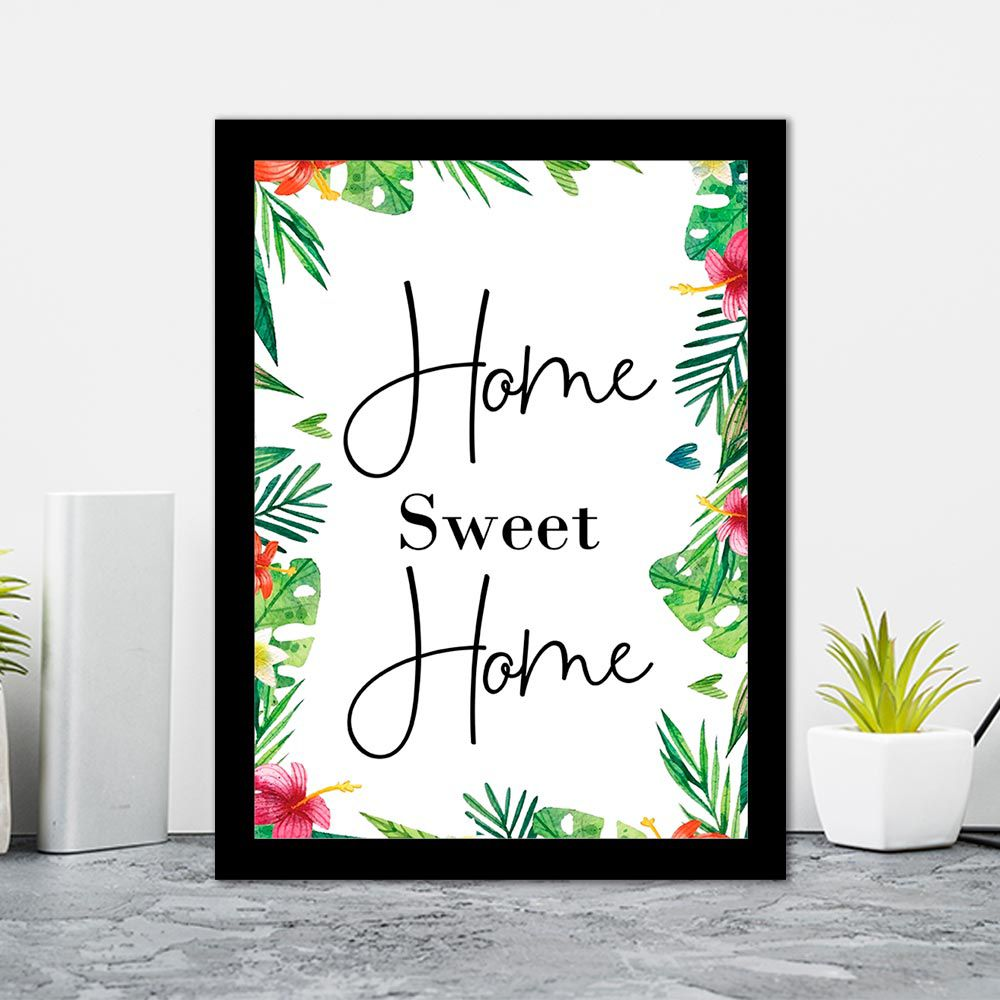 Quadro Decorativo 27x36 Home Sweet Home