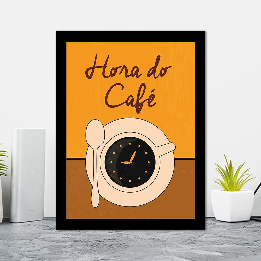 Quadro Decorativo 27x36 Hora do Café