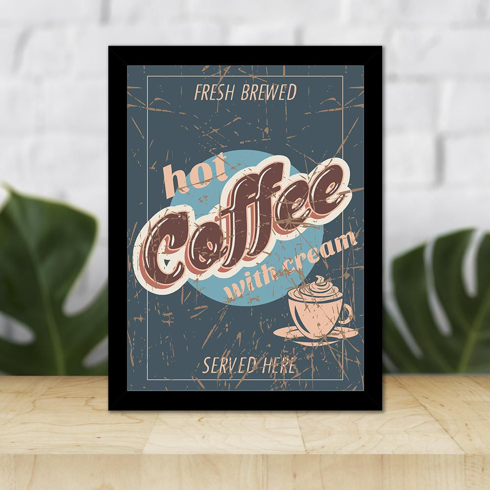 Quadro Decorativo 27x36 Hot Coffee