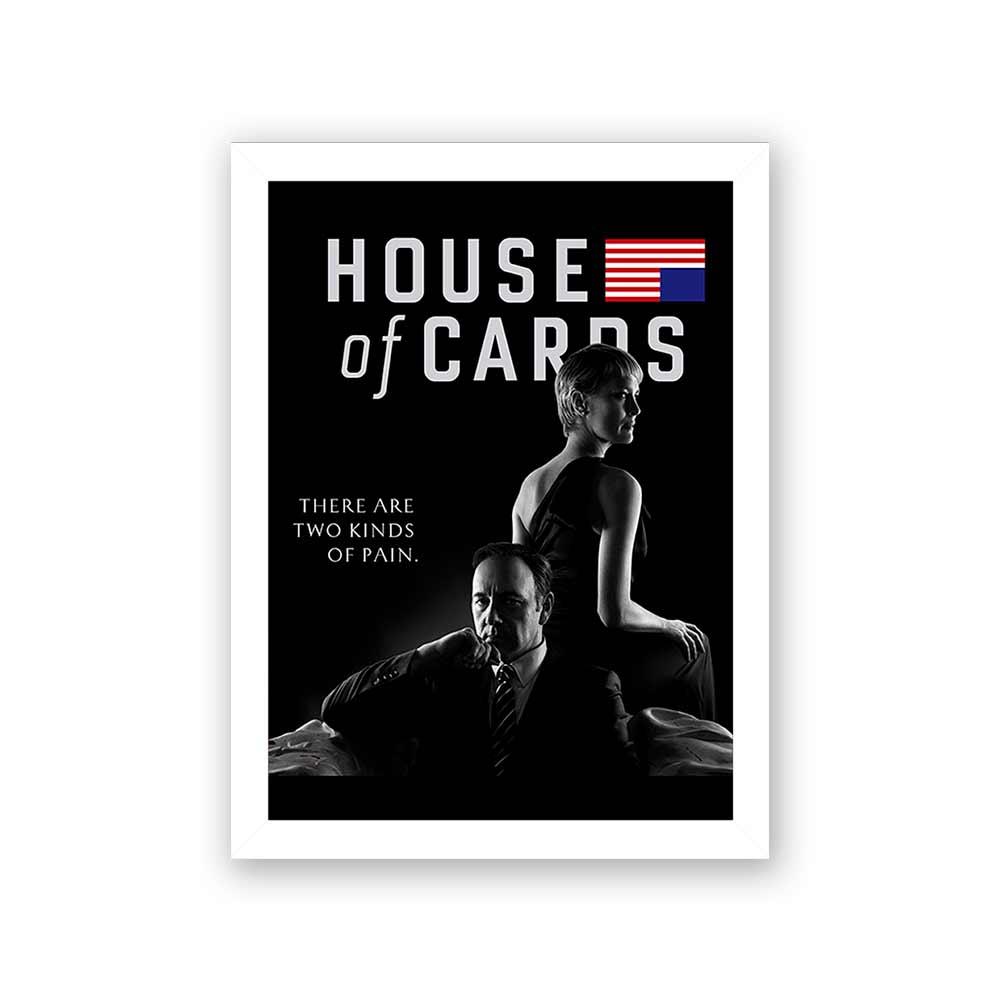 Quadro Decorativo 27x36 House of Cards