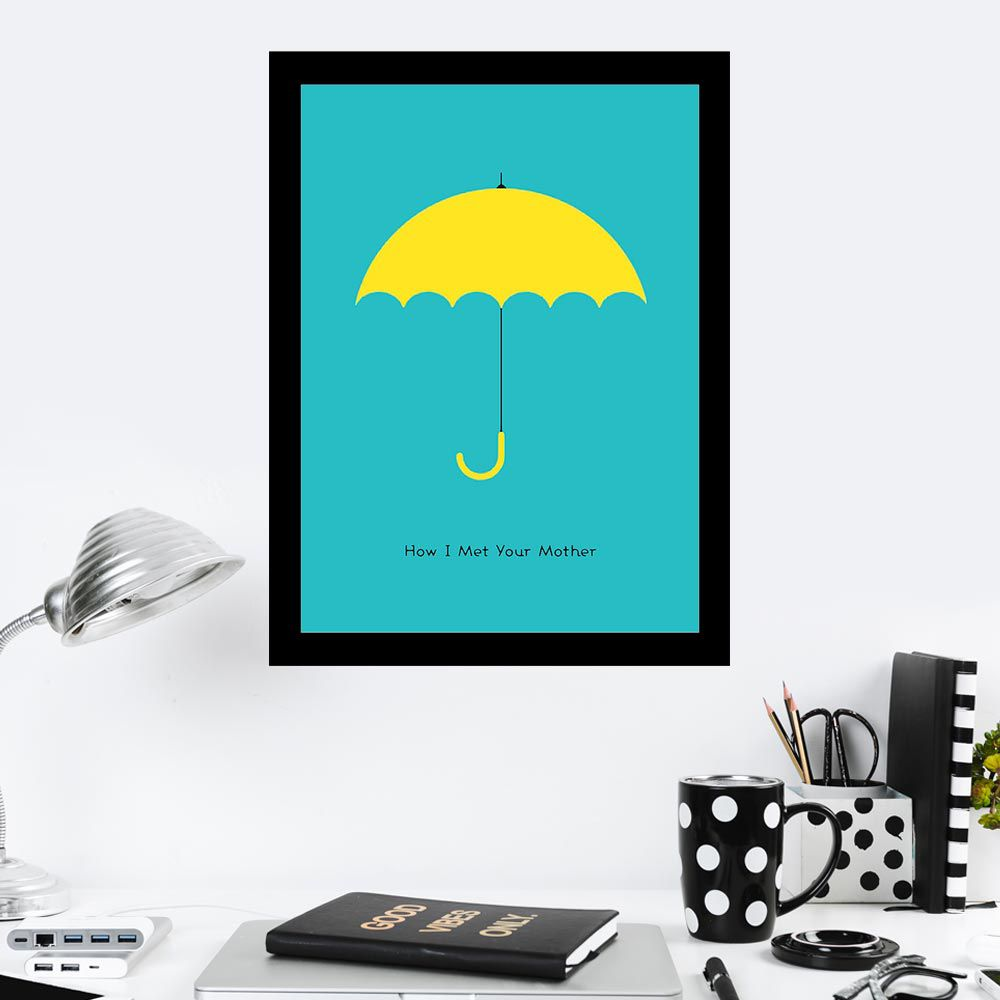 Quadro Decorativo 27x36 How I Met Your Mother Yellow Umbrella