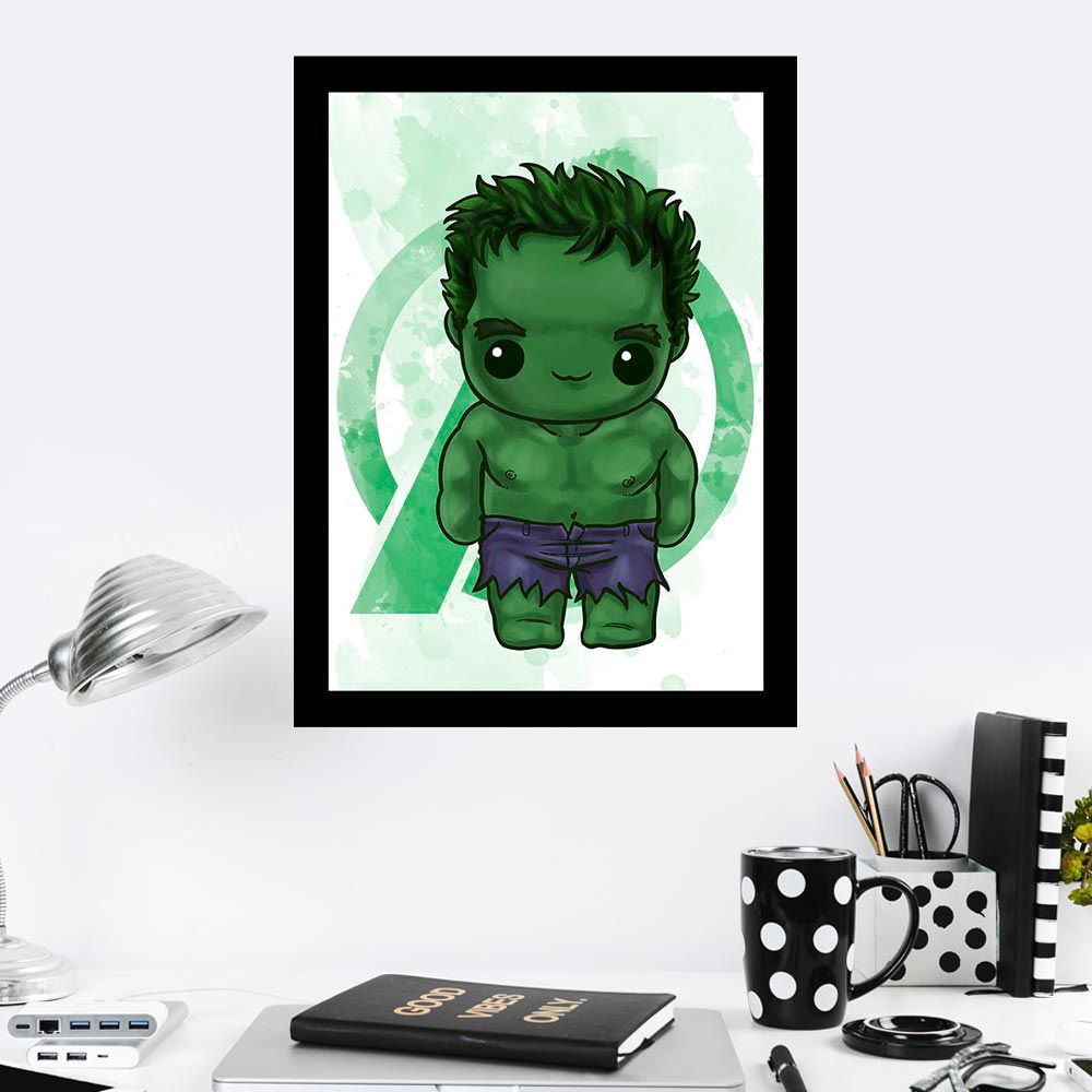 Quadro Decorativo 27X36 Hulk Art