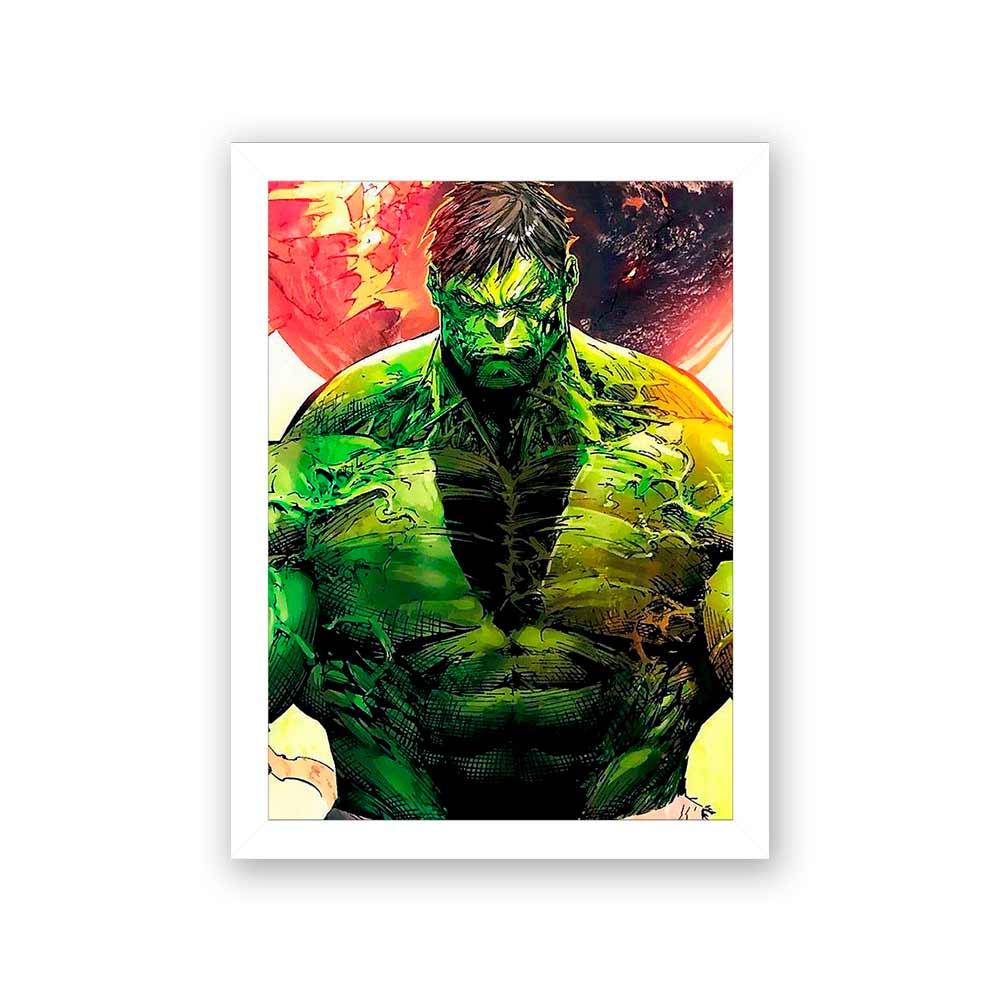 Quadro Decorativo 27X36 Hulk Carton