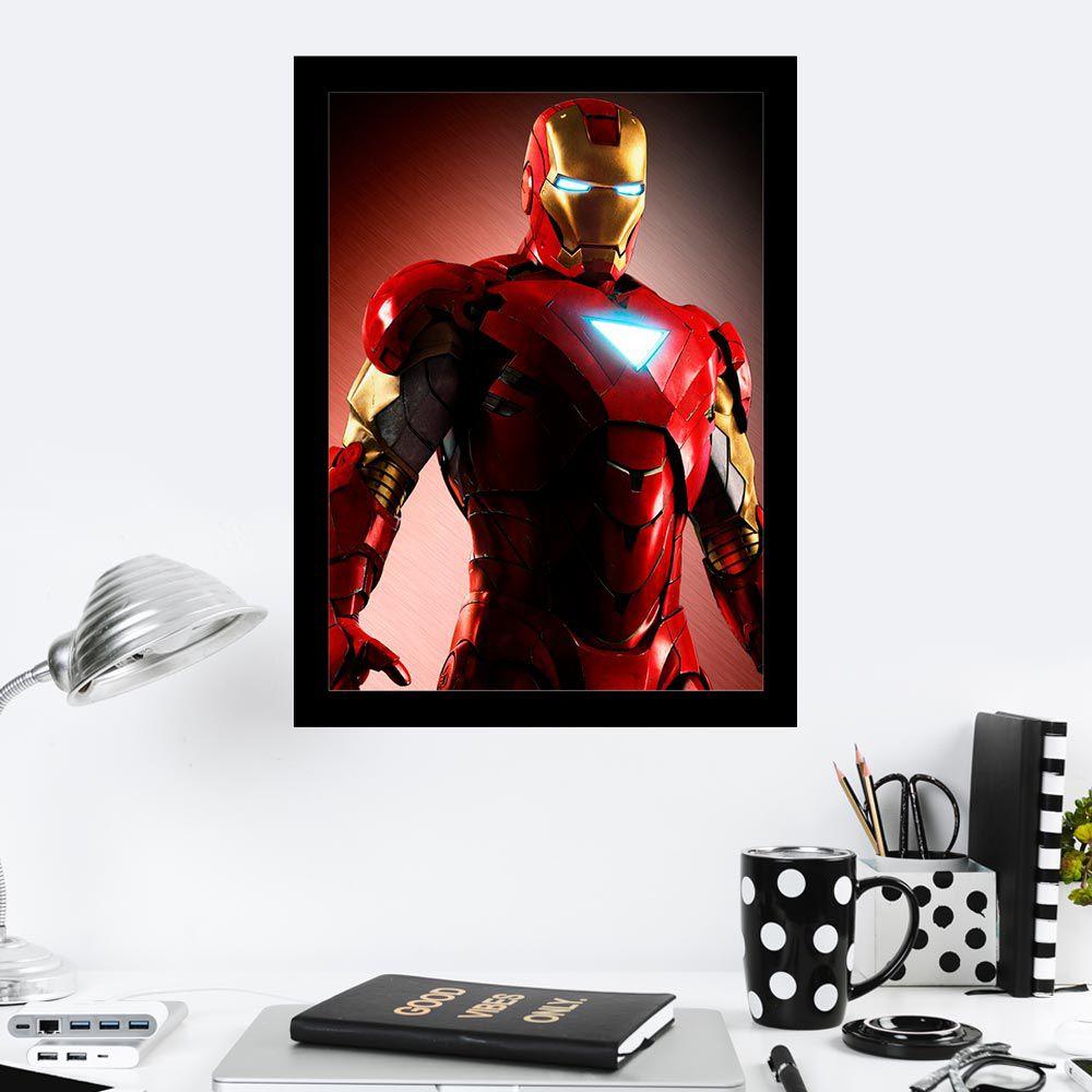 Quadro Decorativo 27X36 Imponente Homem de Ferro