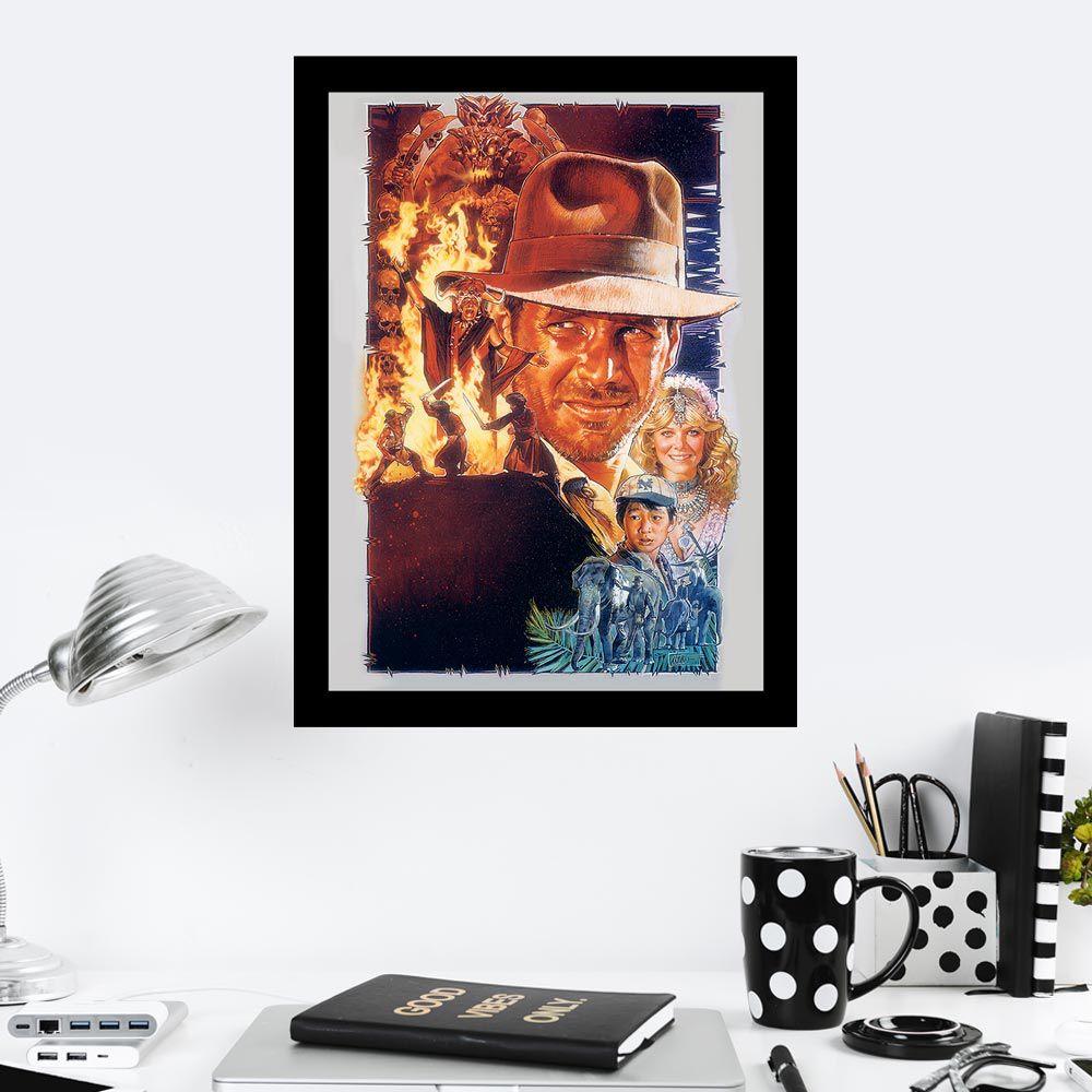 Quadro Decorativo 27X36 Indiana Jones e a Ultima Cruzada
