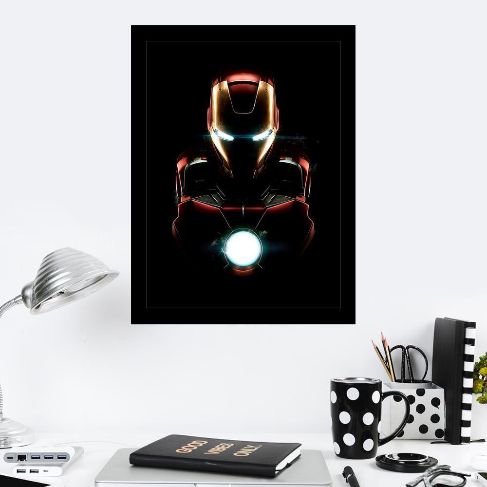 Quadro Decorativo 27X36 Iron Man Sombras
